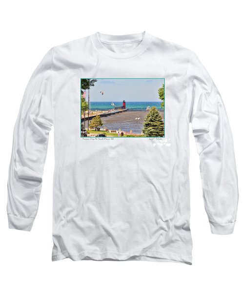 Summer Day At South Haven Mi Long Sleeve T-Shirt