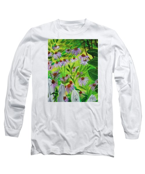 Summer Flowers In Peculiar Mo. Long Sleeve T-Shirt by Patricia Olson