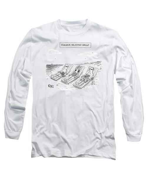 Summer Reading Group -- Three Beach Goers Lounge Long Sleeve T-Shirt