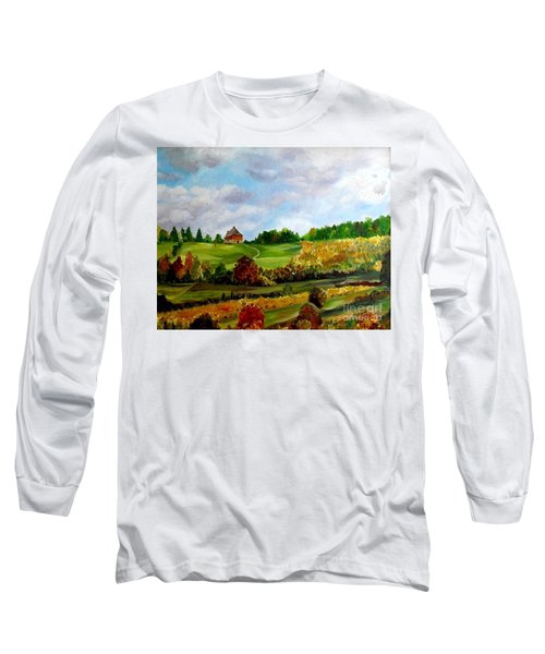 Long Sleeve T-Shirt featuring the painting Summer's End by Julie Brugh Riffey