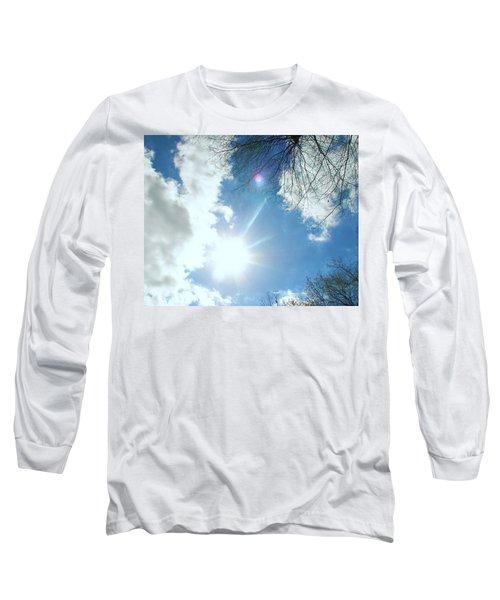 Long Sleeve T-Shirt featuring the photograph Sun Burst by Pamela Hyde Wilson