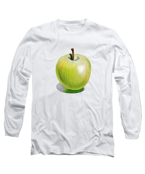 Sun Kissed Green Apple Long Sleeve T-Shirt by Irina Sztukowski