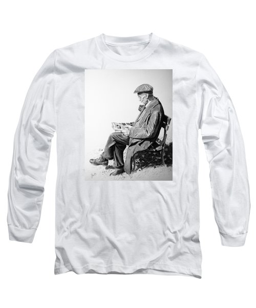 Long Sleeve T-Shirt featuring the painting Sunday Edition by Glenn Beasley