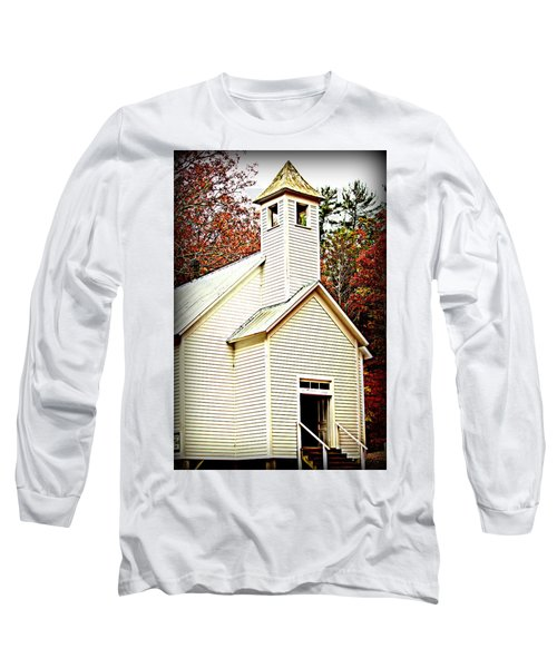 Long Sleeve T-Shirt featuring the photograph Sunday School by Faith Williams