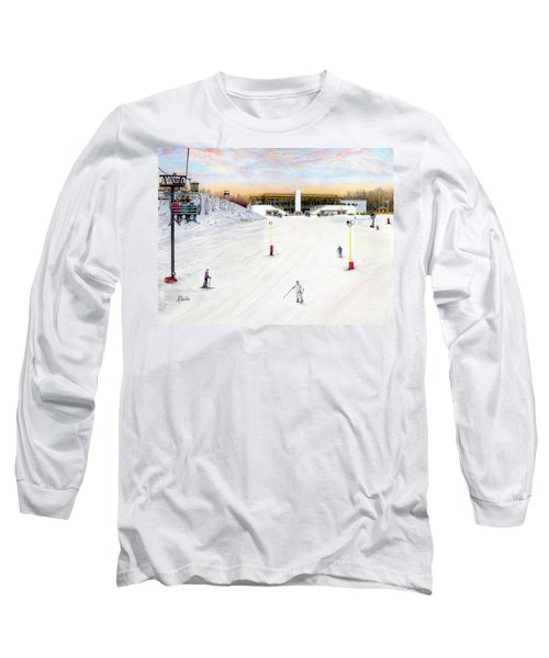 Long Sleeve T-Shirt featuring the painting Sundial Lodge At Nemacolin Woodlands Resort by Albert Puskaric