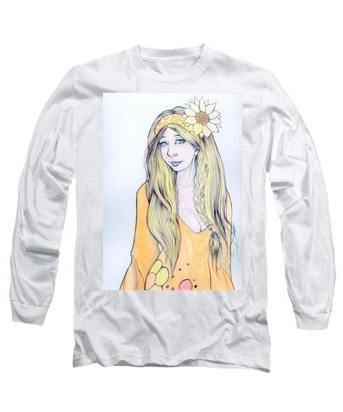 Sunflower Sara Long Sleeve T-Shirt by Jimmy Adams