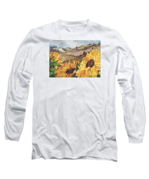 Sunflower Serenity Long Sleeve T-Shirt