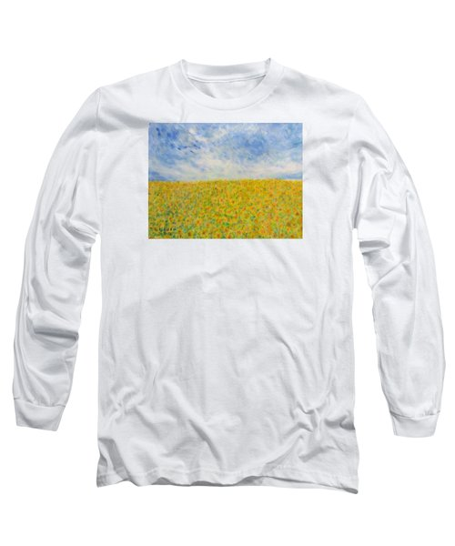 Sunflowers  Field In Texas Long Sleeve T-Shirt