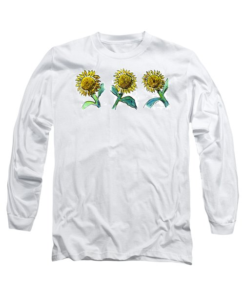 Sunflowers Trio Long Sleeve T-Shirt