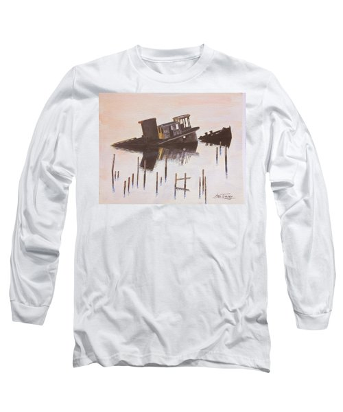 Sunken Boat Long Sleeve T-Shirt by Stan Tenney