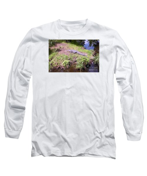 Long Sleeve T-Shirt featuring the photograph Sunny Gator  by Joseph Baril