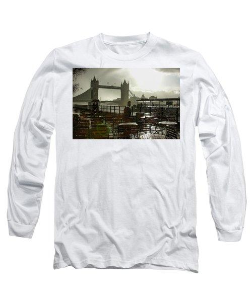 Sunny Rainstorm In London England Long Sleeve T-Shirt