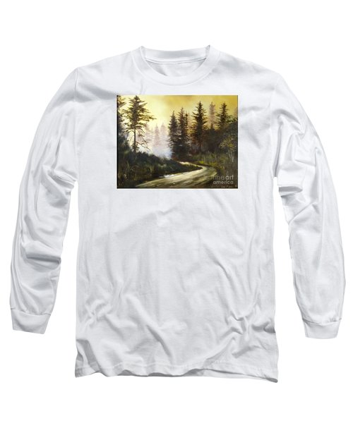 Sunrise In The Forest Long Sleeve T-Shirt by Lee Piper