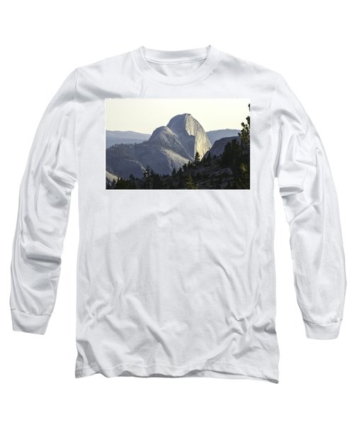 Sunset At Half Dome From Olmsted Pt Long Sleeve T-Shirt