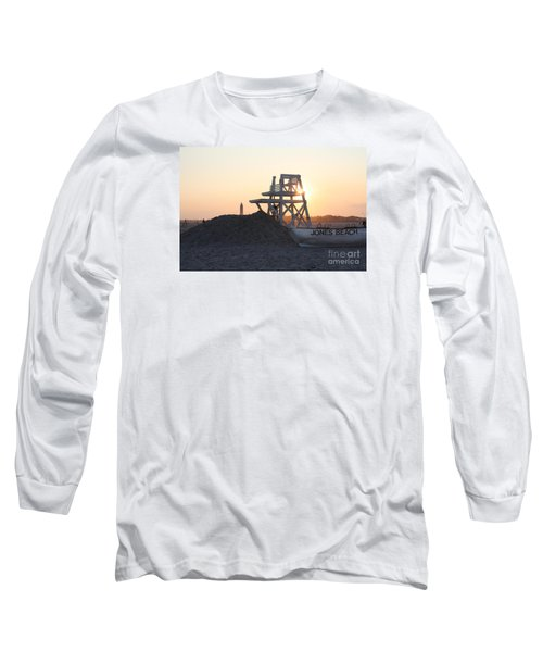 Sunset At Jones Beach Long Sleeve T-Shirt
