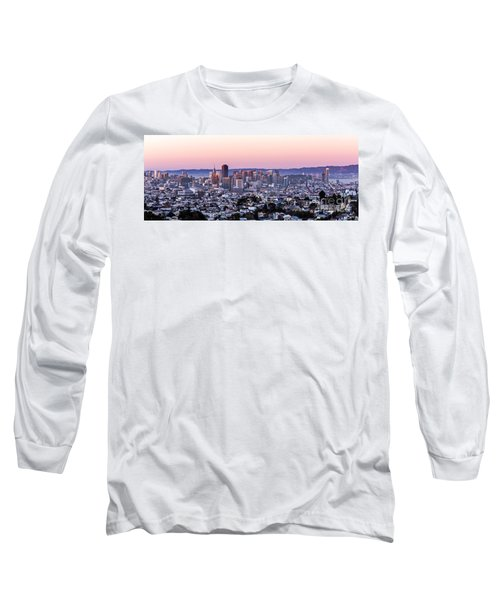 Long Sleeve T-Shirt featuring the photograph Sunset Cityscape by Kate Brown