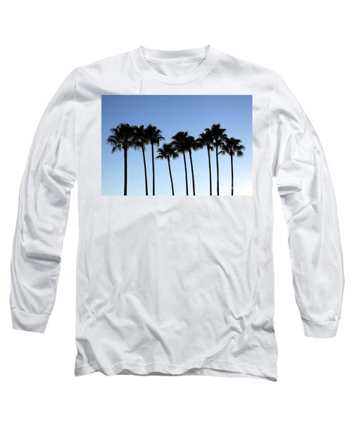 Long Sleeve T-Shirt featuring the photograph Sunset Palms by Chris Thomas