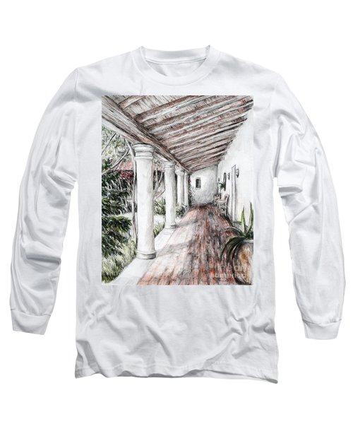 Sunshine On Portico Long Sleeve T-Shirt by Danuta Bennett