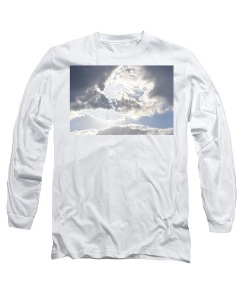 Long Sleeve T-Shirt featuring the photograph Sunshine Through The Clouds by Tara Potts