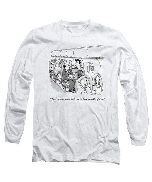 Superman Sits In A Plane Next To A Businessman Long Sleeve T-Shirt