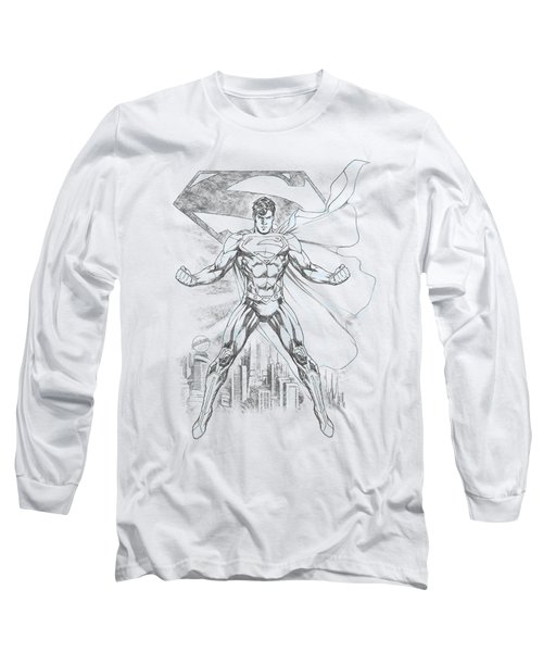 Superman - Super Sketch Long Sleeve T-Shirt