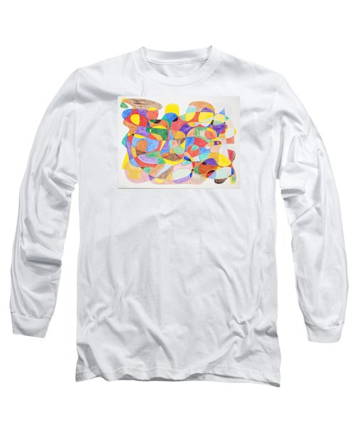 Long Sleeve T-Shirt featuring the painting Abstract Dance Party  by Stormm Bradshaw