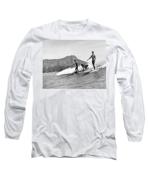 Surfing In Honolulu Long Sleeve T-Shirt
