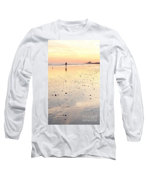 Surfing Sunset Long Sleeve T-Shirt by Eric  Schiabor