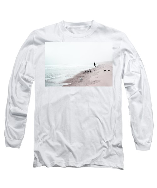 Long Sleeve T-Shirt featuring the photograph Surfing Where The Ocean Meets The Sky by Brooke T Ryan