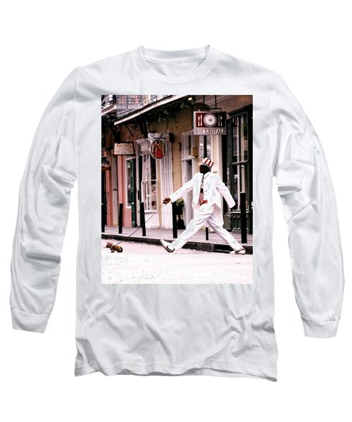 New Orleans Suspended Animation Of A Mime Long Sleeve T-Shirt