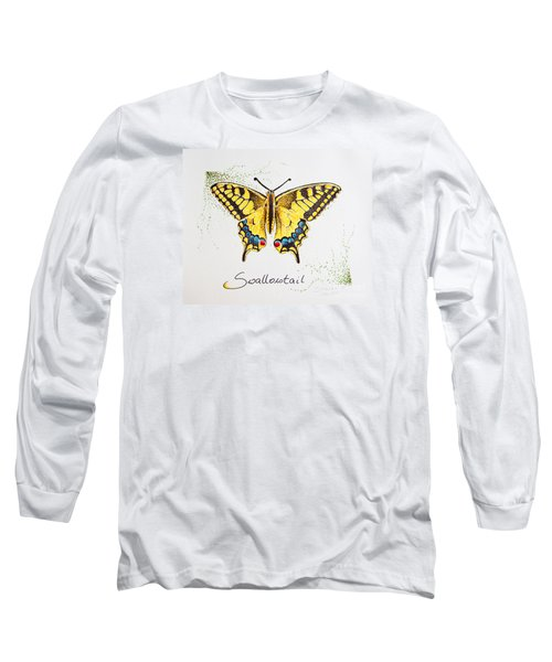 Swallowtail - Butterfly Long Sleeve T-Shirt by Katharina Filus