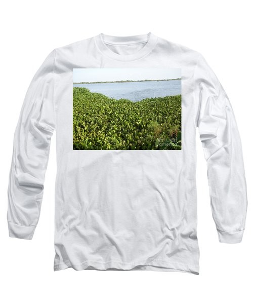 Swamp Hyacinths Water Lillies Long Sleeve T-Shirt