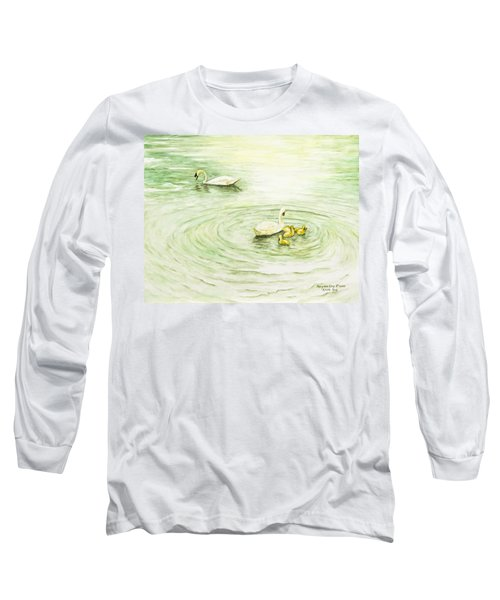 Swans In St. Pierre Long Sleeve T-Shirt