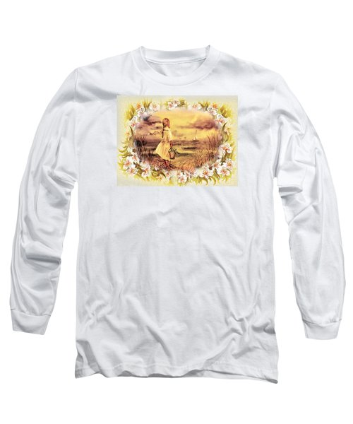 Sweet Memories A Trip To The Shore Long Sleeve T-Shirt by Irina Sztukowski