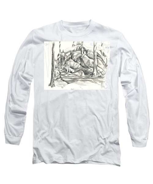 Swirling Cast Shadows At Elephant Rocks  No Ctc101 Long Sleeve T-Shirt