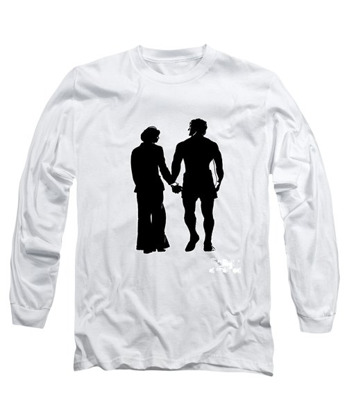 Sylvester Stallone And Talia Shire In Rocky Long Sleeve T-Shirt