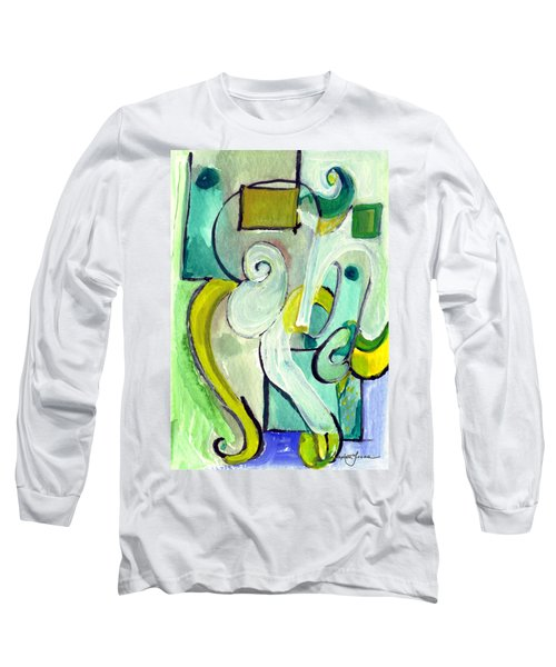 Symphony In Green Long Sleeve T-Shirt by Stephen Lucas