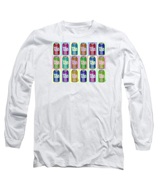 Tab Ode To Andy Warhol Repeat Horizontal Long Sleeve T-Shirt