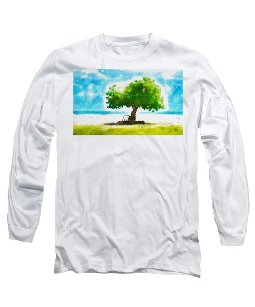 Long Sleeve T-Shirt featuring the painting Summer Magic by Greg Collins
