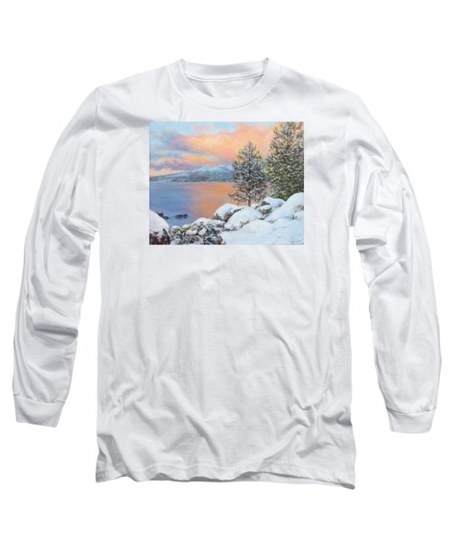 Tahoe Winter Colors Long Sleeve T-Shirt by Donna Tucker