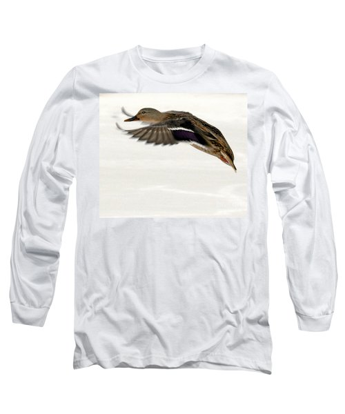 Long Sleeve T-Shirt featuring the photograph Taking Off by John Telfer