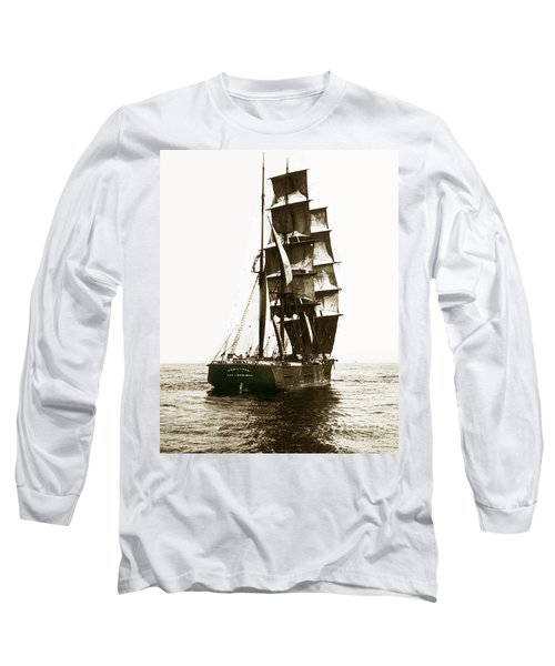 Long Sleeve T-Shirt featuring the photograph Tall Ship Germania Out Of San Francisco California  Circa 1900 by California Views Mr Pat Hathaway Archives