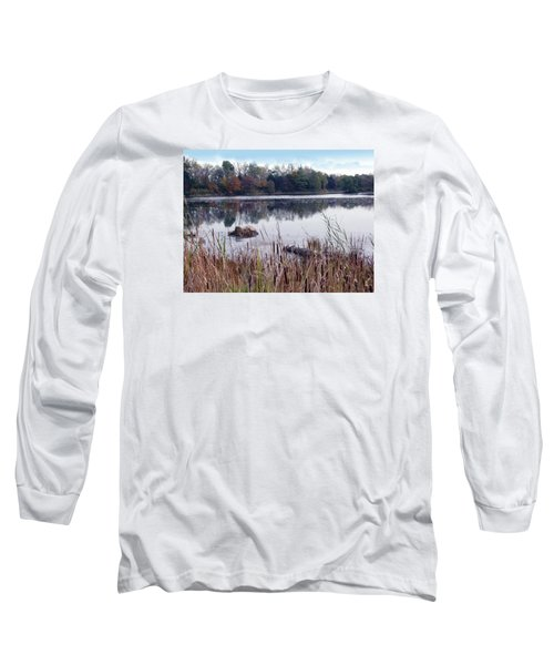 Tallgrass At Lake Katherine Long Sleeve T-Shirt by Cedric Hampton