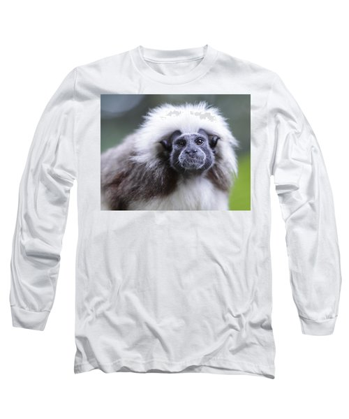 Long Sleeve T-Shirt featuring the photograph Tamarins Face by Shoal Hollingsworth