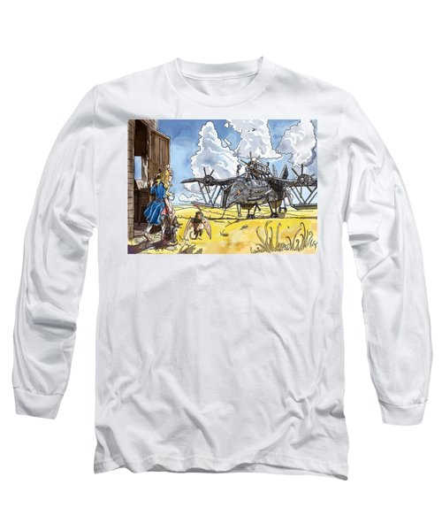 Long Sleeve T-Shirt featuring the painting Tammy Sees A Thingamajig by Reynold Jay