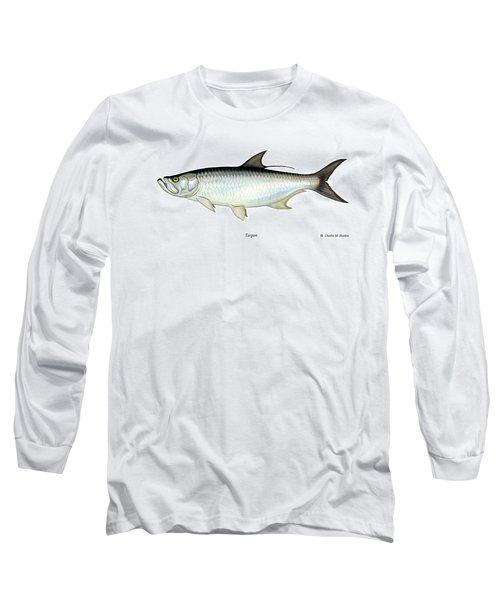 Tarpon Long Sleeve T-Shirt by Charles Harden