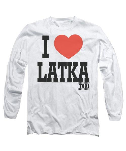 Taxi - I Heart Latka Long Sleeve T-Shirt