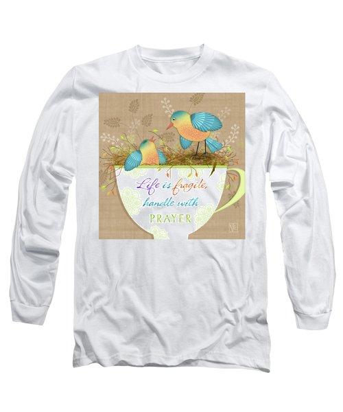 Tea Cup Wisdom Long Sleeve T-Shirt