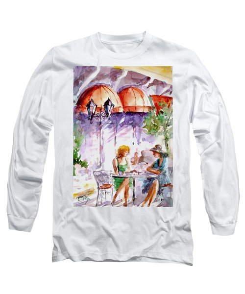 Long Sleeve T-Shirt featuring the painting Tea Time...  by Faruk Koksal