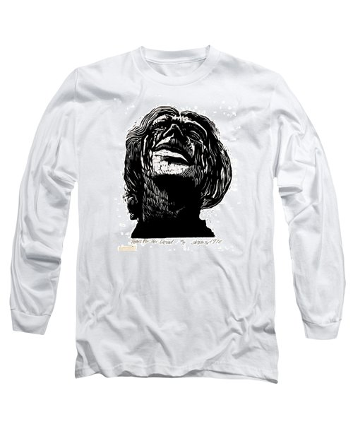 Long Sleeve T-Shirt featuring the relief Tears For Her Dead by Seth Weaver